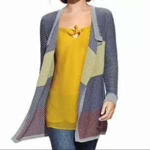CABI MULTICOLOR BLANKET CARDIGAN SWEATER STYLE 467